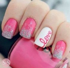 Love these Valentine's Day nails!