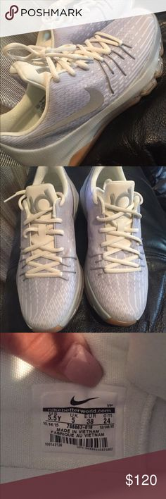 Nike kd shoes Worn once , for men or women , size 5.5y so like a 7 in women Nike Shoes Sneakers