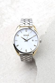 Nixon Bullet Silver and Pearl Watch