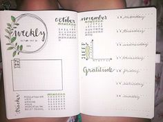 Weekly spread idea from Boho Berry tribe, Bullet Journal Layout Ideas