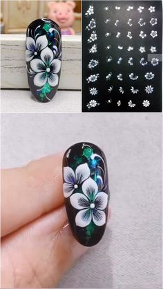 Nagellack Design, Nagellack Trends, Nail Art Designs Videos, Nail Art Videos, Nail Art Flowers Designs, Nail Art Hacks, Nail Art Diy, New Nail Art, Gel Nails