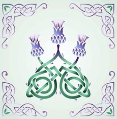 Три чертополоха (трафарет для декора)