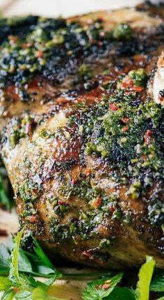 The bright and fresh flavours of Chimichurri are the perfect match for this barbecued chicken.