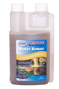 Anjon Manufacturing RBE16OZ Rescue Barley Extract - 16 Ounces by Anjon Manufacturing. $24.00. Organically formulated extract of barley straw.. Goes to work instantly with no messy clean up.. Reduces pond maintenance.. Promotes cleaner Koi pond water.. Safe for fish and plants.. Barley Straw Extract is an easy and invisible way to prevent algae growth in ponds, fountains and container water gardens. Use the easy-measure bottle to treat every two weeks. Safe for...
