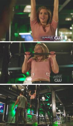 Felicity being cute on the Salmon ladder! #Olicity #Arrow #Season5 #5x20