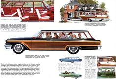 1961 Ford Country Squire Station Wagon - Promotional Advertising Poster