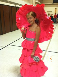 Duck tape dress. Love the ruffles.. @Alicia T T T Barker We should try making…