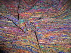SILK LOOM BOMBAY Woven Raw Silk Fabric 1 Yard Remnant