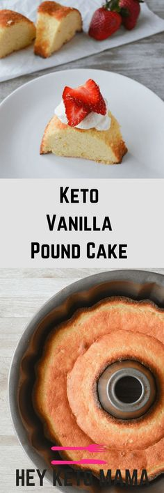 This Keto Vanilla Pound Cake is an incredibly simple dessert with excellent macros and just the right amount of sweetness. It also stores very well, that is...if there are any leftovers! | heyketomama.com