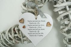 You're Not Just My Friend Heart - Divine Shabby Chic