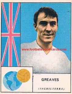 England's World Cup Jimmy Greaves, MIRA, 1962 Italian gum card Soccer Cards, Football Cards, Baseball Cards, World Football, Football Soccer, Jimmy Greaves, Rarity, World Cup, Ephemera