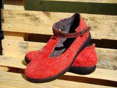 Валяние туфельки