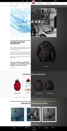 Canada Goose | #webdesign #it #web #design #layout #userinterface #website #webdesign < repinned by www.BlickeDeeler.de | Take a look at www.WebsiteDesign-Hamburg.de