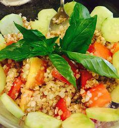 """""""Il talismano del benessere e della ... felicità"""": Fresca insalata di grano saraceno pomodorini cetri..."""