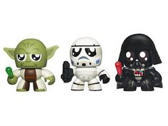 Yoda, Storm Trooper, and Vader Mini Muggs