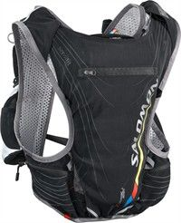 Salomon Advanced sking S-LAB 5: mochila ajustable, con materiales elásticos y transpirables.  Ideal para salidas de trail running. Incluye bolsa de hidratación libre de PVC/BPA.
