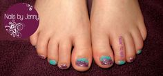 Mini Glitter Toes with 2 color Fade
