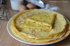 10-15 crepes, dipende dalla grandezza) 3 uova medie 350 ml di latte 150 ml di acqua frizzante 210 g circa di farina 00 o 0 un pizzico di sale pochissimo olio di arachide o girasole