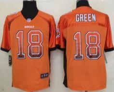Nike Cincinnati Bengals #18 A.J. Green 2013 Drift Fashion Orange Elite Jersey