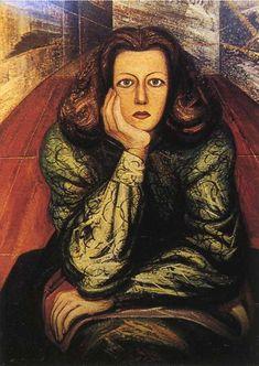 Retrato de Margarita Urueta dramaturgo. 1947.  Piroxilina. 142 x 117 cm.  Colección privada.