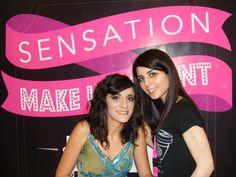 Da destra la candidata Marrazzo Laura insieme alla sua modella che esibisce il trucco ultimato