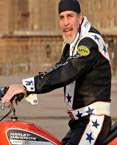 Daredevil Robbie Knievel Arrested In Sturgis For DUI In A Motorhome Harley Davidson Chopper, Harley Davidson Motorcycles, Motorcycle Leather, Motorcycle Jacket, Robbie Knievel, Leather Collar, Leather Jacket, Oldest Whiskey, Daredevil