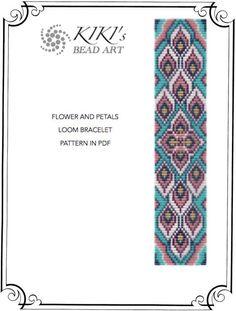 Bead loom pattern flower and petals LOOM bracelet by KikisBeadArts