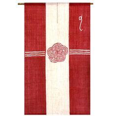 Noren/Japanese Gift-Money Envelopes Hemp100% かわいい!ご祝儀袋の柄のお目出度いのれん【送料無料】【代金引換手数料無料】【祝い熨斗のれん 梅結び 赤 ろうけつ染め 麻100% 88×150cm】麻のれん 京のれん 日本製 和風 本麻 古典柄 | ROOM - my favorites