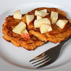 Pin for Later: Sweet Potato Apple Pancakes Are a Paleo Eater's Dream Breakfast