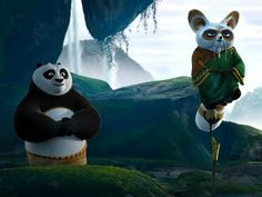 Scene from Kung Fu Panda 2 - Master Shifu and Po. Disney Pixar, Disney Films, Kung Fu Panda 3, Dreamworks, Tiranga Flag, Master Shifu, Forever Movie, Disney Princess Frozen, Dragon Warrior