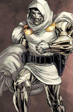 Doctor Doom by Whilce Portacio Comic Book Villains, Marvel Villains, Comic Book Characters, Marvel Characters, Comic Character, Marvel Comics, Marvel Comic Universe, Marvel Art, Marvel Heroes