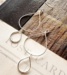 Raindrop Sterling Silver Earrings   Jewelry Earrings   BluHour Jewelry   Scoutmob Shoppe   Product Detail