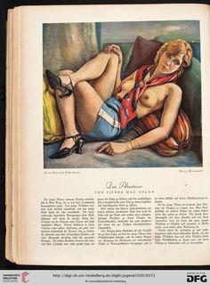 Jugend: Münchner illustrierte Wochenschrift für Kunst und Leben — 35.1930 / Kurt Weinhold: Frau Speedy Schlichter Pierre Mac Orlan: Das Abenteuer