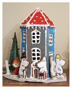 Moomin gingerbread house Moomin House, Friend Recipe, Christmas Gingerbread House, Ideas Para Fiestas, Diy And Crafts, Happy Birthday, Bird, Cakes, Baking