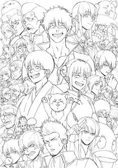 Figure gintama but mainly by Kamui yato , All Anime, Anime Guys, Manga Anime, Anime Art, Gintama Funny, Gintama Wallpaper, Silver Samurai, Otaku Problems, Animation Tutorial