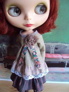 Old rose Outfit set for Blythe par moshimoshistudio sur Etsy