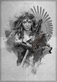 i do not own or claim any photos music just sharing beautiful artwork and great music. stay true to. Arte Viking, Viking Art, Viking Symbols, American Indian Art, Native American Indians, Guerrero Tattoo, Vikings, Catrina Tattoo, Samurai Tattoo
