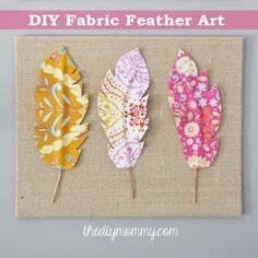 Make Fabric Feather Wall Art
