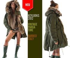Vintage Parka with Fur by BARBED, Italy