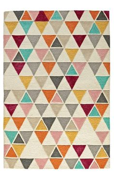 When it comes to this Totally Triangular Kids Rug, we're not trying to be obtuse.  We just think the multicolored triangle rug will look great in your home.