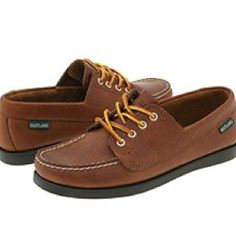 boat shoes! looked cool, rubbed your heels raw!