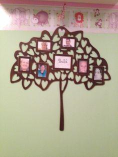 Árvore genealógica para o quarto da bebê. Comprado na @torredebebel - Instagram