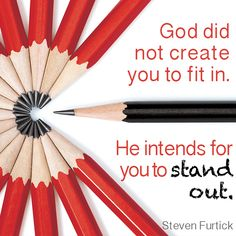 God did not create to fit in. He intends for you to stand out. - Steven Furtick