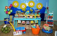 Fun beach birthday party! See more party ideas at CatchMyParty.com!