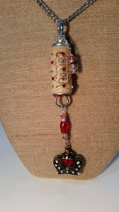30'' adjustable Wine Cork Necklace embellished by WineCorkRagTime on Etsy  $26.50