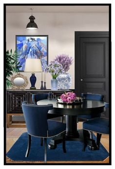 Dining Room By Kskafida Liked On Polyvore Featuring Interior