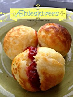 Cookin' For the Seven Dwarfs: Æbleskivers- love neat little ethnic treats and these look tasty! :)