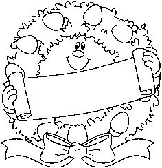 christmas in july activities christmas wreath coloring pages for children disney coloring sheets