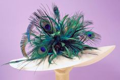 Beautiful peacock feather creation