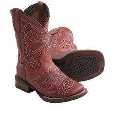 Dan Post Sidewinder Cowboy Boots - Leather, Square Toe (For Youth Boys and Girls))